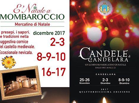 Proposta Di Menu Per Gruppi Mercatini Di Natale A Mombaroccio e Candele a Candelara 2017