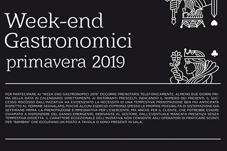 Week End Gastronomico – Domenica 7 Aprile