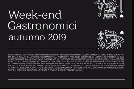 Week End Gastronomico – Domenica 27 Ottobre 2019